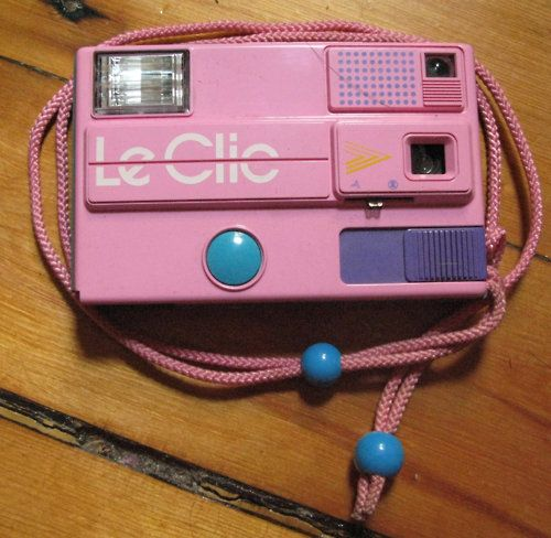 "So, sooooo 80s! Le Clic Toy Camera. #vintage #retro #toys #nostalgia #1980s - My sister had this! I got it handed down when she no longer ""needed"" it. ;)"