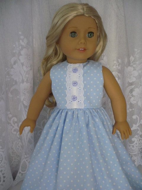 Sale American Girl Doll clothes Blue and by TeaTimeDesignsShop, $14.00