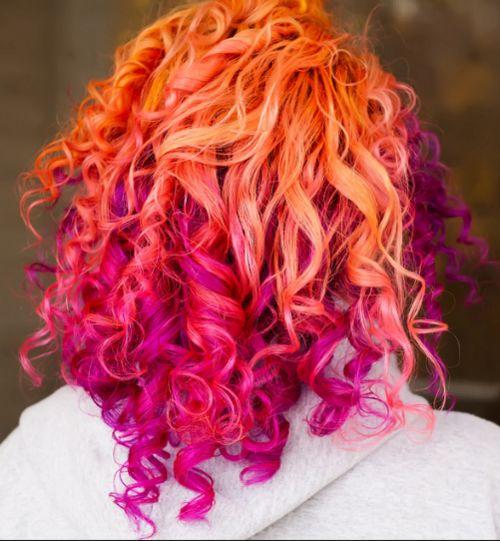 orange & pink hair
