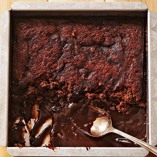 Brownie Pudding Cake, anyone? See more chocolate cake recipes: www.bhg.com/...