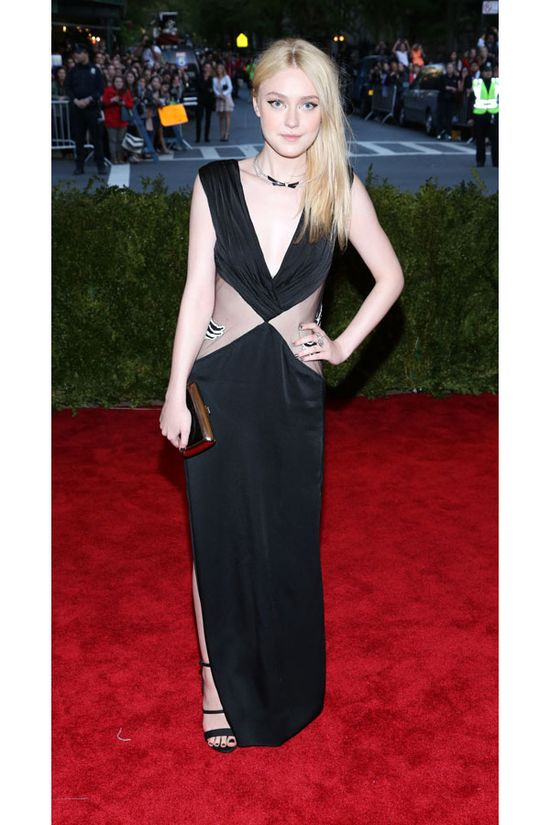 Dakota Fanning in Rodarte at the 2013 Met Gala
