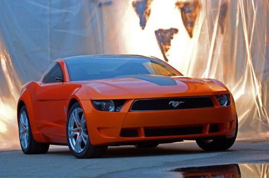 Ford Mustang Concept #ford #mustang #concept #car #cars #Sport #orange