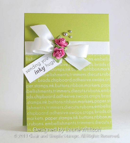 oh lovely! simple handmade card