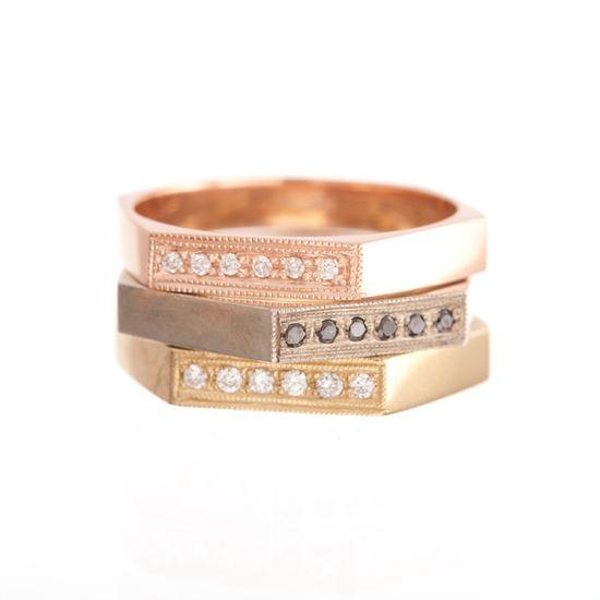Ariel Gordon Jewelry :: Hex Stack Rings