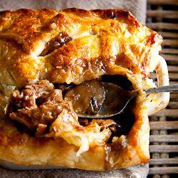 Rich and Meaty Steak & Mushroom Pot Pie.