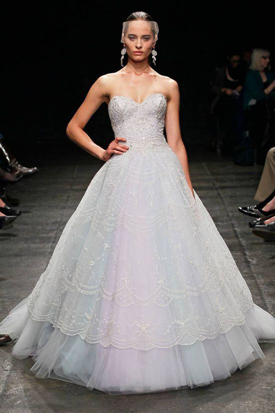 beautiful pastel wedding gown from the Lazaro Spring 2013 bridal collection
