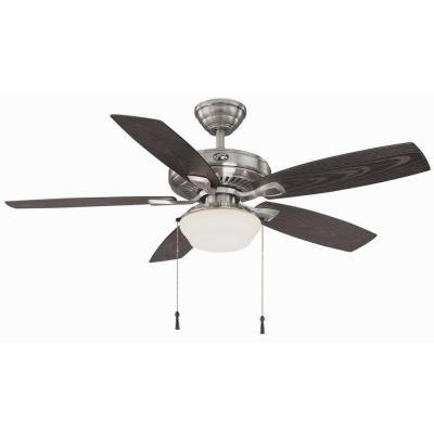 $99. Home Depot. Hampton Bay Gazebo II 52 in. Indoor/Outdoor Brushed Nickel Ceiling Fan-YG188-BN at The Home Depot