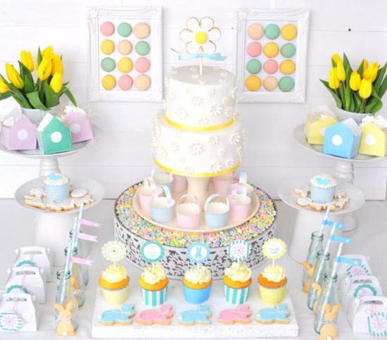 Pastel Easter Party via Kara's Party Ideas karaspartyideas.com #pastel #easter #party #ideas
