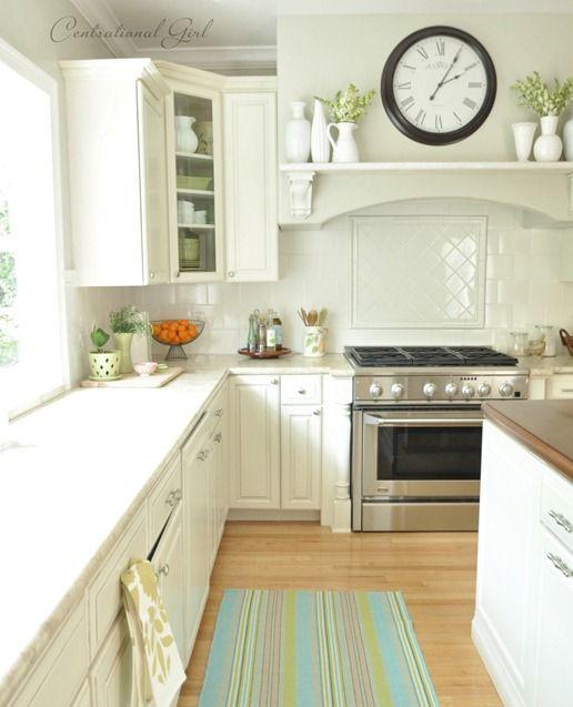 Kitchen- white cabinets