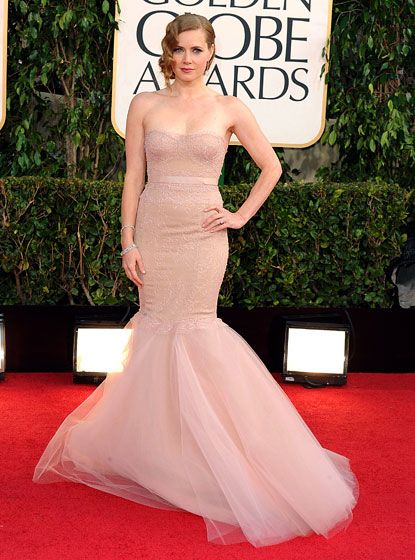 Gorgeous Amy Adams in Marchesa at the Golden Globes