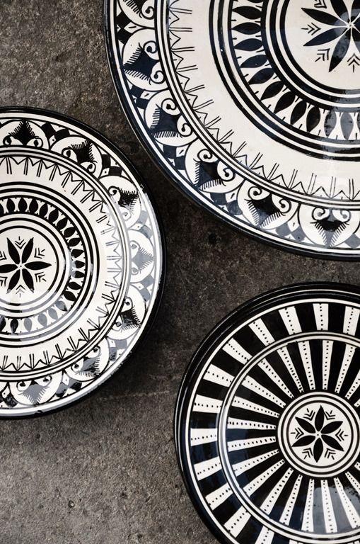 Black & White dishes