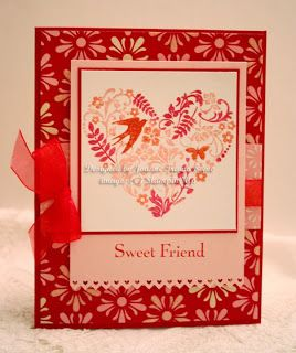 Stampin' Up! You Are Loved handmade Valentine card