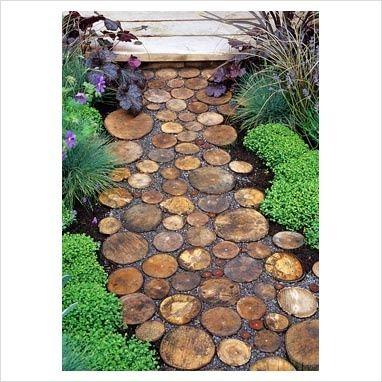 log pathway, #garden decorating #garden interior #garden designs #garden decorating before and after