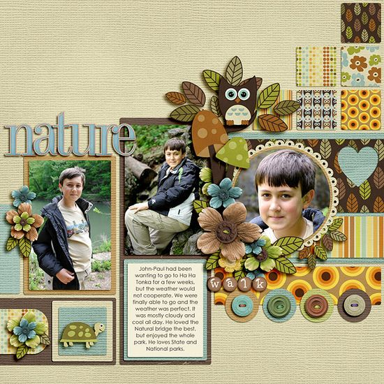 Nature Walk by Kay M #scrapbook #layout #digiscrap