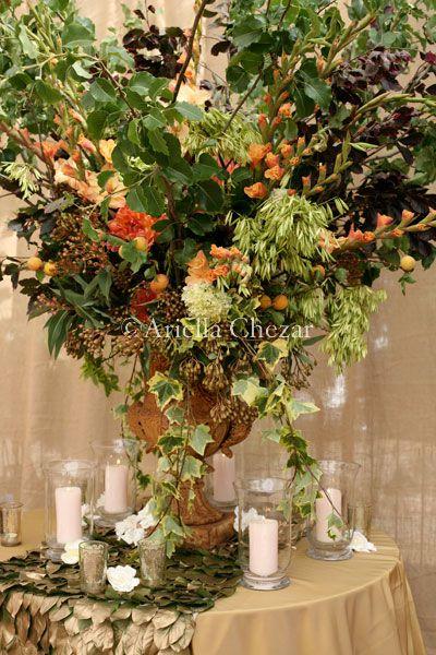 Lush floral arrangement by Ariella Chezar