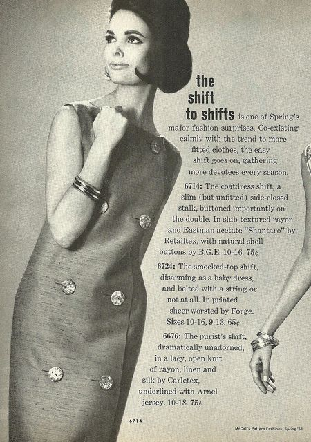 Have you made the shift to shifts? #vintage #1960s #fashion #dresses