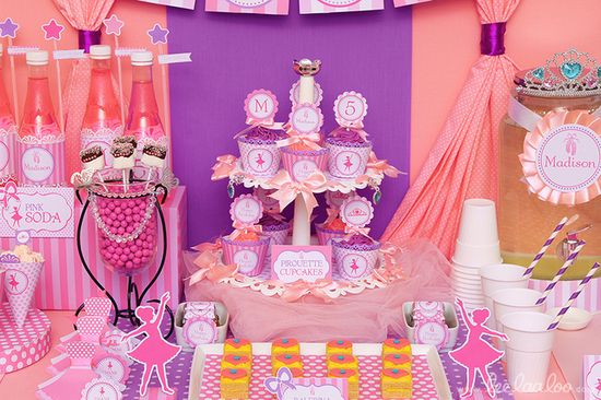 Love these treats at a ballet party!  See more party ideas at CatchMyParty.com!  #ballet #partyideas