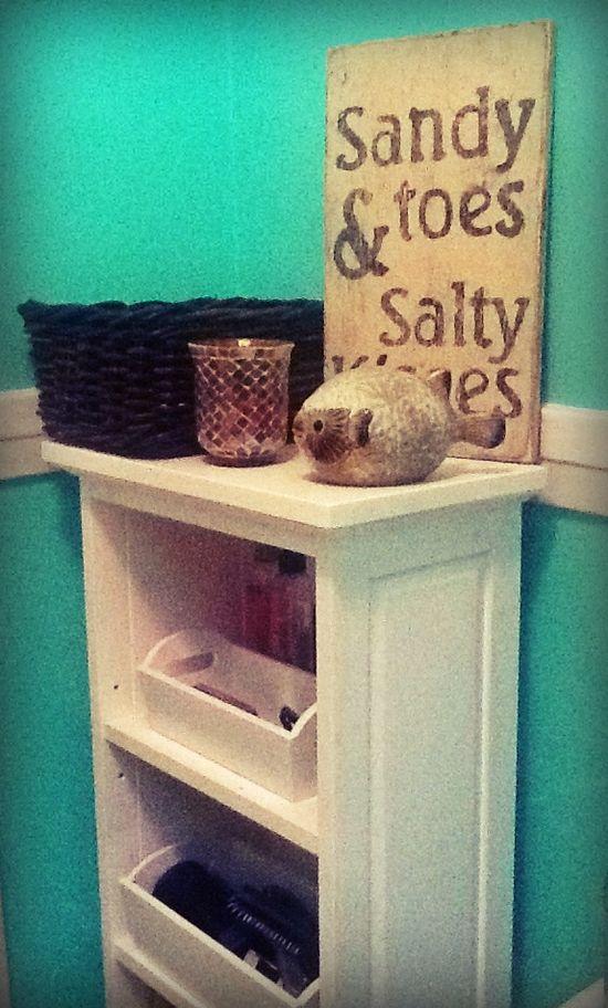 #diy #beach #bathroom #interior #design #designer #shabby #chic #mermaid #green #sandy #toes #salty #kisses