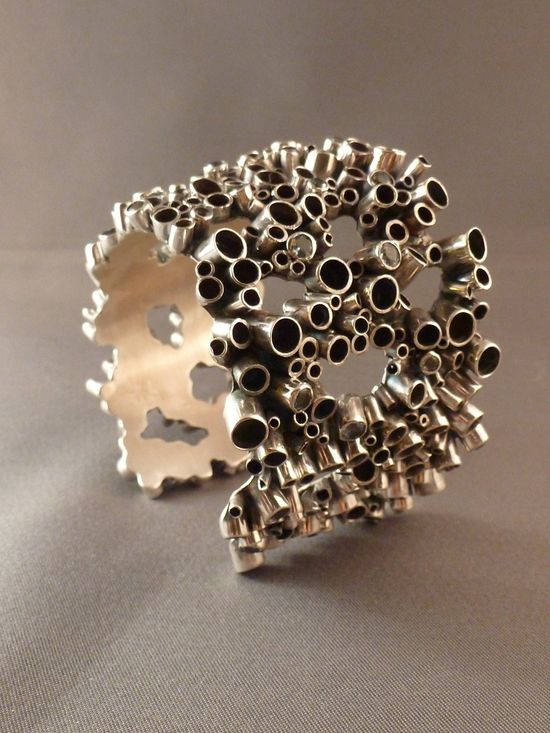 Big bubble cuff bracelet. Modern Jewelry