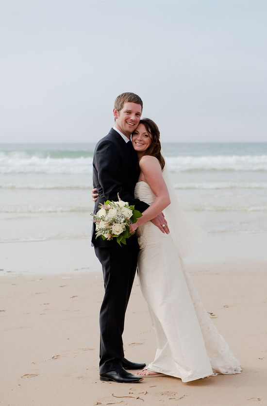 Beautiful beach wedding at Watergate Bay Hotel