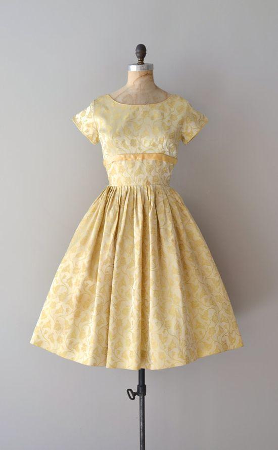 1960s Limoncello brocade dress #retro #partydress #romantic #feminine #fashion #vintage #designer #classic #dress #highendvintage