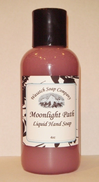 Moonlight Path Handmade Liquid Soap  All Natural - Sensual, sophisticated and romantic, Moonlight Path has lavender, rose, violet and musk.