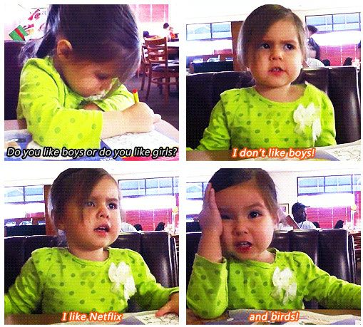 this little girl has got it right. haha