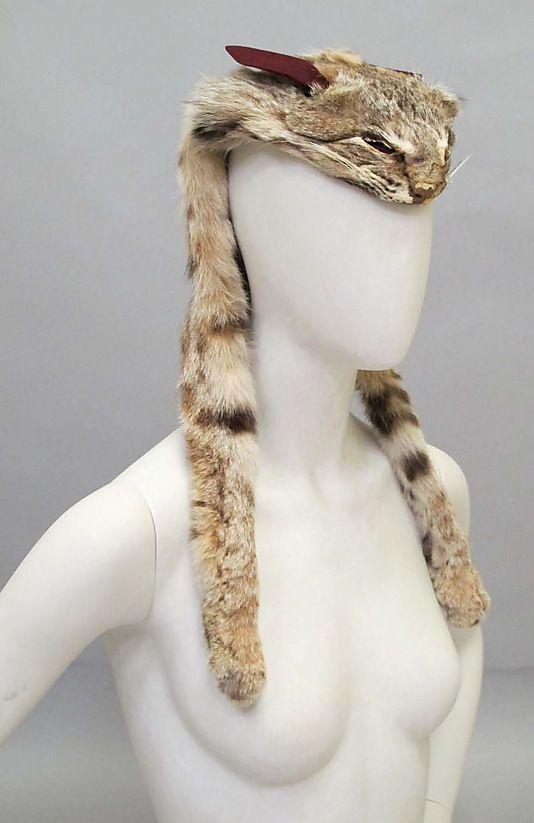 Schiaparelli Fur Hat - FW 1938-39 - House of Schiaparelli (French, 1928-1954) - Design by Elsa Schiaparelli (Italian, 1890-1973) - Fur - @~ Mlle