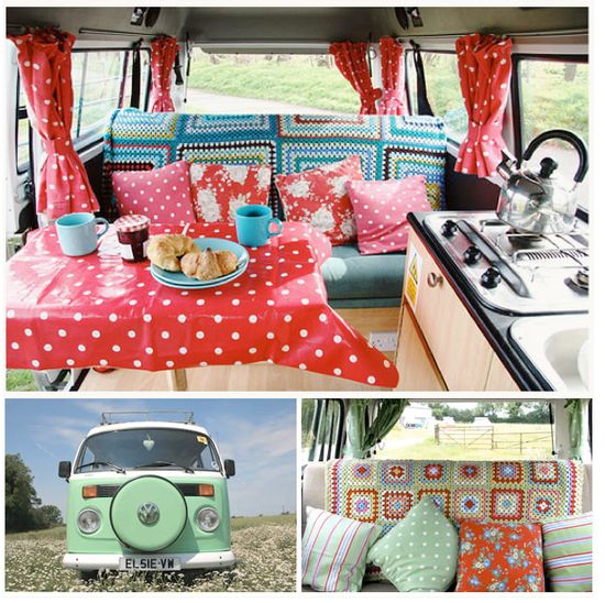 One of my dreams is to have a vintage VW campervan. This one would do nicely.