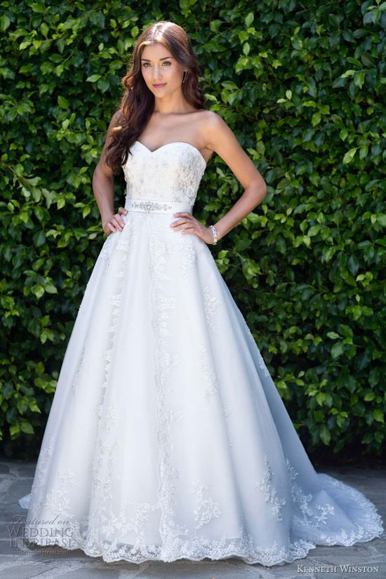 kenneth winston wedding dresses spring 2013 strapless ball gown