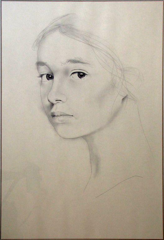 """Saatchi Online Artist: Franco Fusari; Crayon, 1991, Drawing """"Carla"""""""