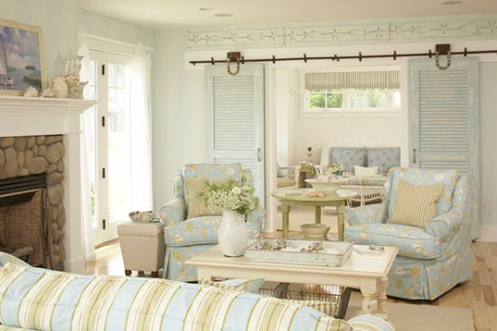 Beautiful beach house with a light color scheme