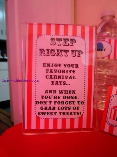 Carnival theme invitation- cute!