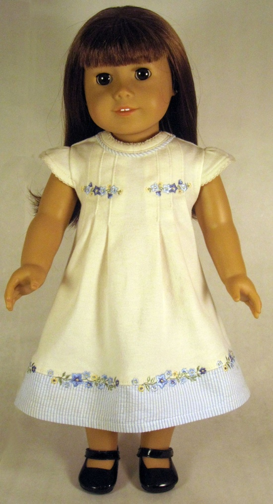 "Adorable American Girl 18"" Doll embroidered dress. By MyAngieGirl on Etsy"