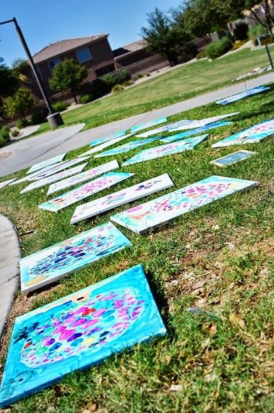 Art party idea. painting canvas