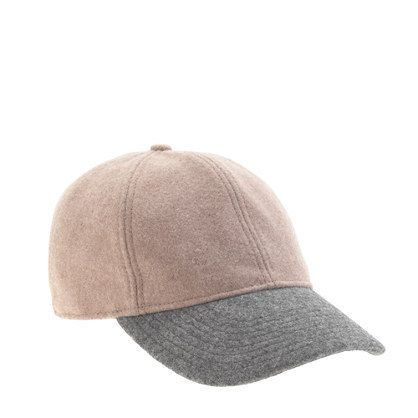 Colorblock Wool Baseball Cap by J.Crew.
