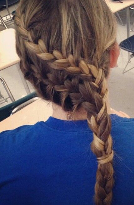 Double French braid with highlights!!