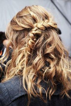 Love this messy side braid