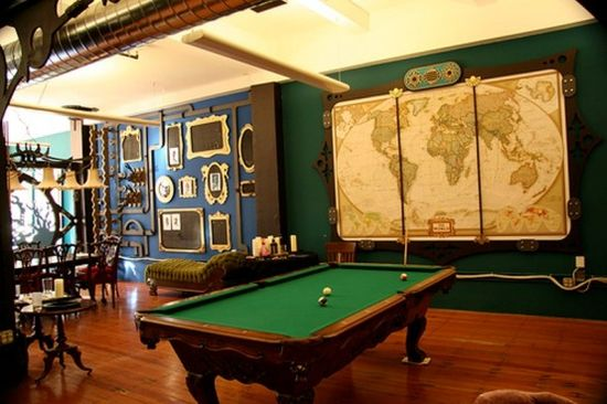 28 Crazy Steampunk Home Office Designs game room