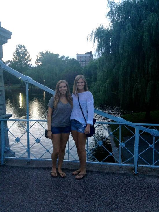 """This picture is of me visiting my best friend in Boston. I chose to include this picture as one of my best memories of 2012 because it was my first time ever going to Boston. This picture was taken in the park where parts of the movie """"Ted"""" were filmed."""
