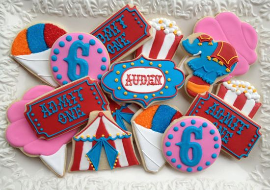 Circus Carnival Collection Sugar Cookies by NotBettyCookies, $38.00