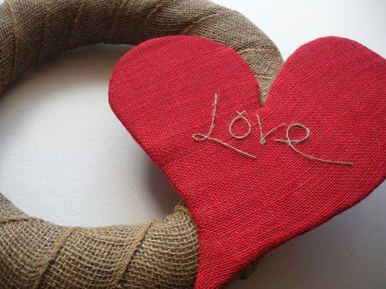 Valentine's wreath.. LOVE