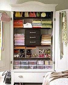 Organized armoire.