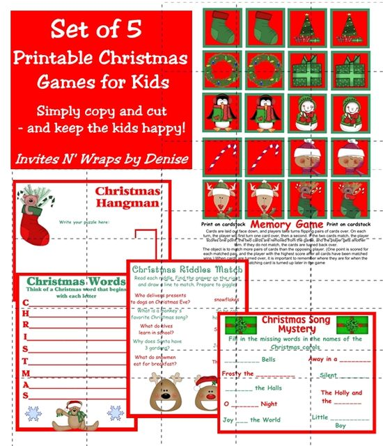 Christmas kids games for the Christmas party