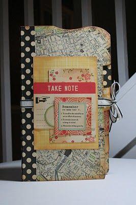 cardboard book to mini album