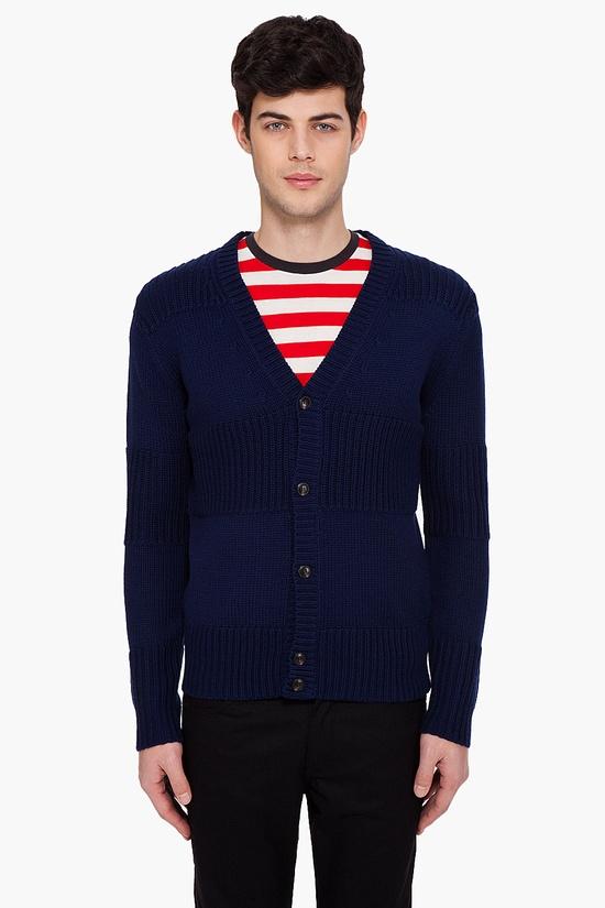 A.P.C. Striped Jacquard Cardigan