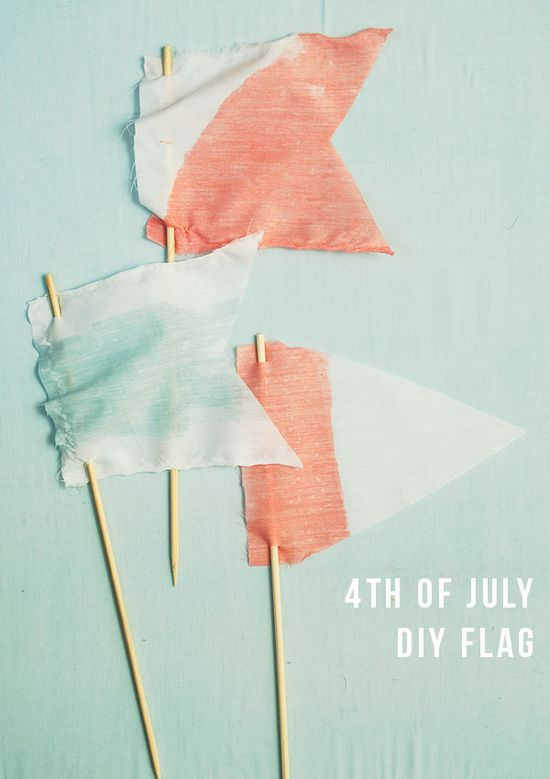 4th of July : DIY dipped flags