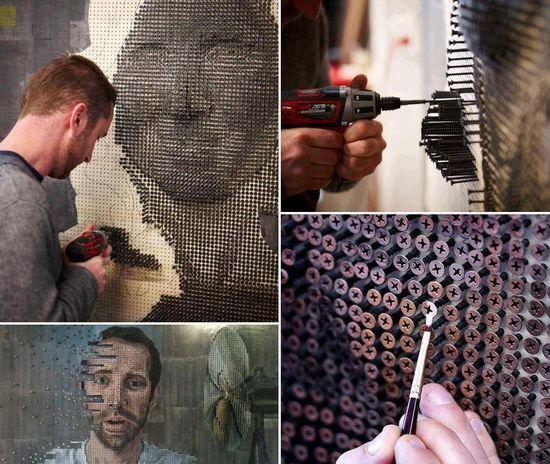 3D Art made of screws