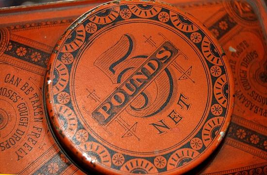 tin, 5, design, vintage