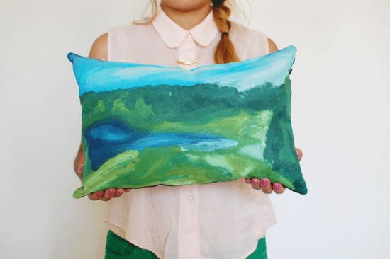 A paint-by-numbers pillow will earn you cred with your artsy fartsy friends.